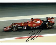 Kimi RAIKKONEN 2017 SIGNED Ferrari Formula 1 Autograph 10x8 Photo AFTAL COA RARE