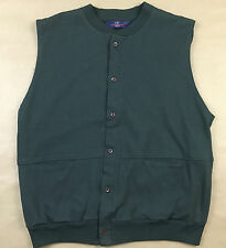 Vintage JEAN PAUL GERMAIN Mens Medium Green 2 Pocket Cardigan Sweater Size M