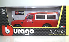 1980 Land Rover Series II Rojo/blanco 1 24 Bburago 22063