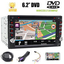 "6.2"" Double 2 din Car DVD Player Touch Screen GPS Navi radio Indash Map Camera"