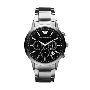 Brand New Emporio Armani AR2434 Men's Stainless Steel Chronograph Watch