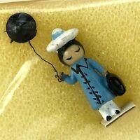VTG NOS Dollhouses Miniature Girl Diorama Figure Train Display Model Village