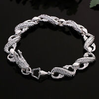 Damenarmband Schlange/Drache 20cm Damen Armband pl. mit Sterlingsilber DA130 Neu