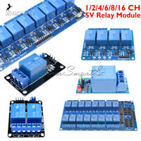 1/2/4/6/8/16 Channel 5V Relay Board Module Optocoupler LED For Arduino ARM AVR