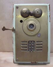 Old Brass DEVEAU Eight Apartment Button Call Box Intercom Telephone industrial
