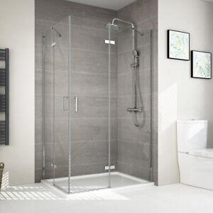 120x90 120x80 Duschkabine Eckeinstieg Duschtür Glas Rahmenlos Duschabtrennung