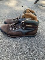 Men's Timberland Classic Euro Leather Hiking Boots Brown/Olive #95054 Size 13M
