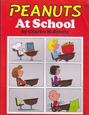 """Peanuts At School """"Snoopy & Charlie Brown - Ravette Books 1989 """"Huge Book"""""""
