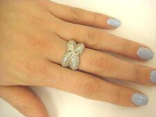 UNIQUE DESIGN 14K WHITE GOLD 1.50 CARAT T.W. PAVE SET DIAMONDS LADIES RING