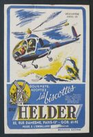 BUVARD Biscottes HELDER Hélicoptère Ariel 3 helicopter otter