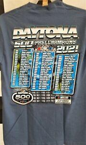 2021 Daytona 500 Past Champions T-Shirt Lake Blue Color  - Adult X-Large