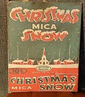 PRIMITIVE ANTIQUE VINTAGE RETRO STYLE CHRISTMAS MICA SNOW PRINT ART CANVAS