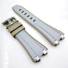 28mm Rubber Band 20mm Buckle Silver Connector Strap for AP Royal Oak Offshore #2