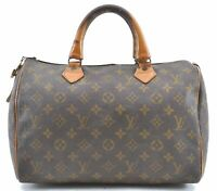Authentic Louis Vuitton Monogram Speedy 30 USA Model Hand Bag LV B7621