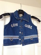 NWT New Cowgirl Denim Vest 2 2T Go! Baby Boutique Girls Toddler Western