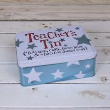 The Bright Side Teacher's Tin Gift With Blue Stars