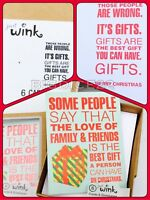 American Greetings Just Wink Christmas Cards & Envelopes Funny Holidays-12 Count