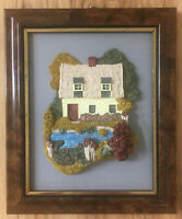 "LILLIPUT LANE , ""STOURSIDE"" FRAMED WALL PLAQUE, BOXED 1989 VINTAGE FROM ENGLAND"