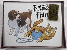 VINTAGE WHITINGS DOG CAT DECORATED NOTES NOTE CARDS SEALED! USA