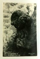 RPPC Redwood Highway California Sappy Sam Redwood Burl Real Photo Postcard