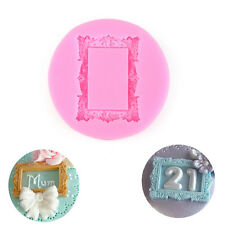 Cute Vintage Rectangle Miniature Frames Silicone Mould Cake Sugarcraft Tool