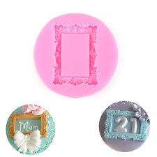 Cute Vintage Rectangle Miniature Frames Silicone Mould Cake Sugarcraft Tool
