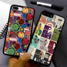 Marvel Superhero Avengers Silicone Phone Case Cover For iPhone Samsung Galaxy