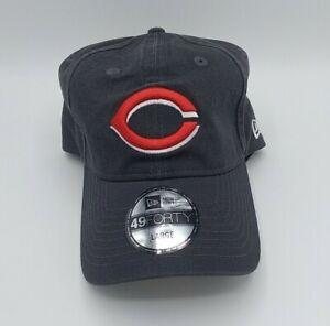 Cincinnati Reds MLB New Era 49FORTY Flex-Fit Baseball Hat Cap (MEN L) (Black)