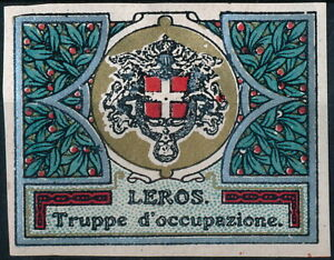 GREECE - LEROS, ITALIAN OCCUPATION MINT DELANDRE POSTER STAMP LABEL. #A86
