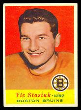 1957-58 TOPPS HOCKEY #11 VIC STASIUK EX+ BOSTON BRUINS card