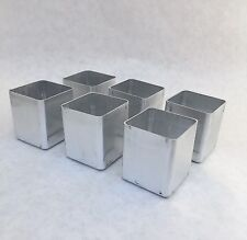 6 Square Votive Cande Molds NEW Seamless Aluminum