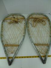 "Homemade? Handmade? Metal Snowshoes Snow Shoes 25"" long x 12-1/2"" wide SKU A GS"