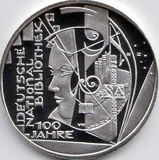 10 Euro Gedenkmünze 100 J. Nationalbibliothek 2012 Polierte Platte Silber 625/-