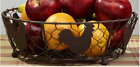 New Country Primitive Farmhouse Chicken ROOSTER WIRE BASKET Bread Egg Fruit Bowl
