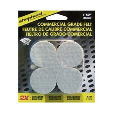 Shepherd Hardware 6707 Commercial Grade Felt 1.5in Round Self Adhesive, 8 Pieces