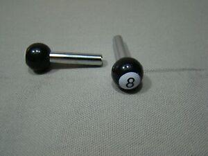 black and white 8 ball door lock knob pull stem 8 ball button pool ball lock