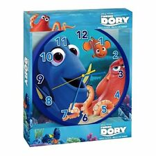 "Disney Pixar Finding Dory Wall Clock 25cm 12"" Official Licensed Kids Bedroom"