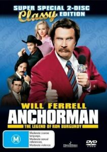 Anchorman - The Legend Of Ron Burgundy - Classy Edition (DVD,2Disc,2007, R4) UGC