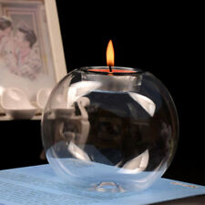 Round Hollow Crystal Glass Candle Light Holder Wedding Room Decoration