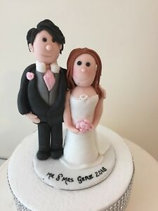 Edible Bride And Groom Wedding Cake Topper Decoration.