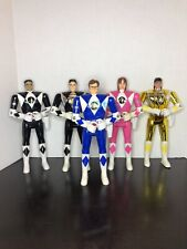 Vtg Bandai Power Rangers 1993 Flip Head Action Figures 5.5? Lot of 5 Blue Pink
