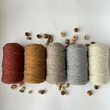 5 mm Macrame Cotton cord, Single twisted 50 Yard Macrame cord, macrame rope Yarn