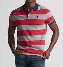 NWT【 L 】Express Men's Stripe Stretch Small Lion Pique Polo Shirt