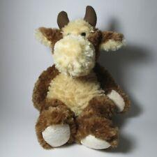 Ganz Cow Bull Stuffed Plush Soft Fluffy Animal Toy Angus Horns & Tail H10712