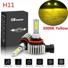 2020 H11 H8 H9 3000K Golden Yellow LED Headlight bulbs High Low Beam Fog Lights
