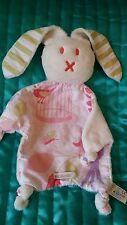 Ella & Otto bunny rabbit baby comforter soft hug toy, blankie pink
