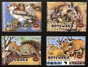 BOTSWANA WILD ANIMALS STAMPS SET 2001 MNH WILDLIFE LEOPARD GAZELLE FALCON BIRD