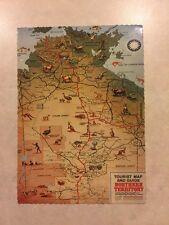 Australia Postcard: Norther Territory Tourist Map & Guide