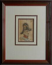 DOMINGO MUNOZ Y CUESTA 1850-1912 ORIGINAL SIGNED PORTRAIT 'MILITARY OFFICER'