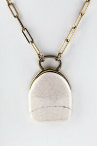 Isabel Marant Womens Ceramic Pendant Necklace Gold Tone